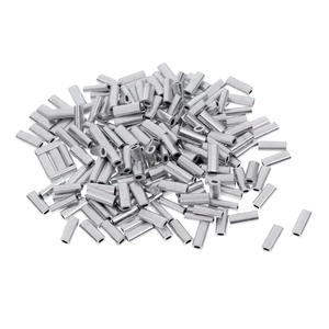 Image 3 - 200pcs Fishing Line Crimp Wire Leader Sleeve Tube Fishing Connector 1.0mm/1.2mm/1.5mm