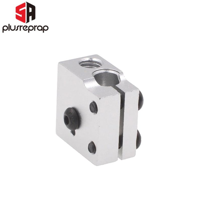 1PCS V6 Volcano Aluminium Heater Block For Print Head Hot End Heating Block 20x20x11.5 Mm For 3D Printer