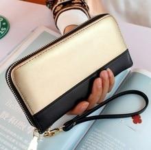 Nouvelle arrivée de haute qualité de marque de mode portefeuille vintage doux PU sac à main en cuir longues femmes portefeuille d'embrayage avec coin et téléphone sac