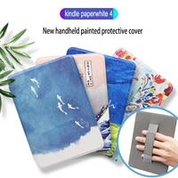 Estojo inteligente para descanso de pulso  estojo gaugger para amazon new kindle paperwhite 4 (10th gen  2018 liberação) ereader capa magnética de mão