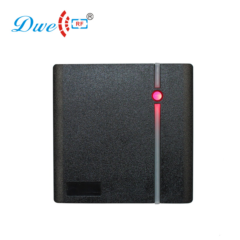 DWE CC RF access control reader black square size contactless smart card reader access rfid key tag readers 125k waterproof glue square rf access control reader rfid antenna coil induction coil slim compact