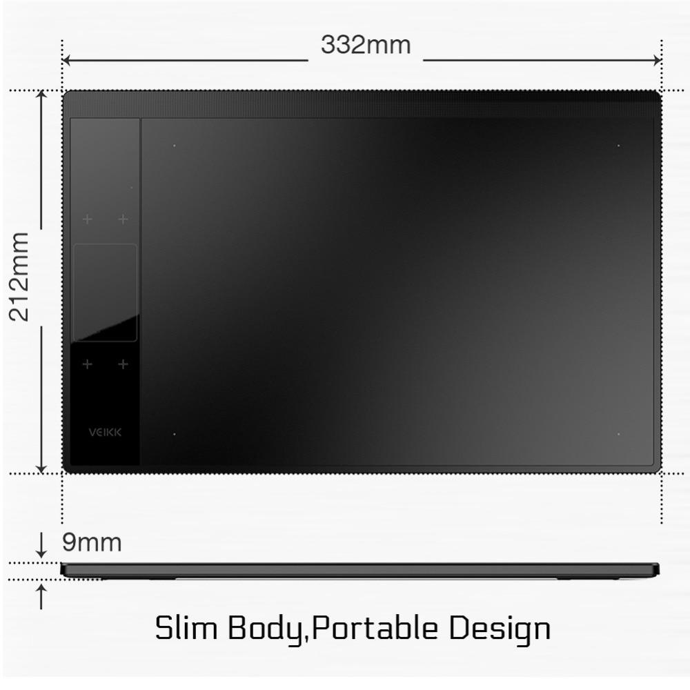 Tablette de dessin VEIKK A30 10x6 pouces grandes tablettes graphiques de dessin numérique à zone Active avec 8192 niveaux de sensibilité à la pression - 3
