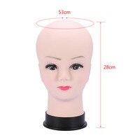 Горячий манекен из ПВХ модель головы женский парик делая шляпу дисплей с основой ресницы макияж практика тренировка лысый голова модель