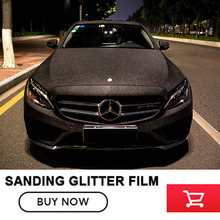 size:1.52x30m(5x98FT ) black Car Styling Glitter Vinyl Film for car vinyl wrapping Matt blac Sanding glitter air free bubbles