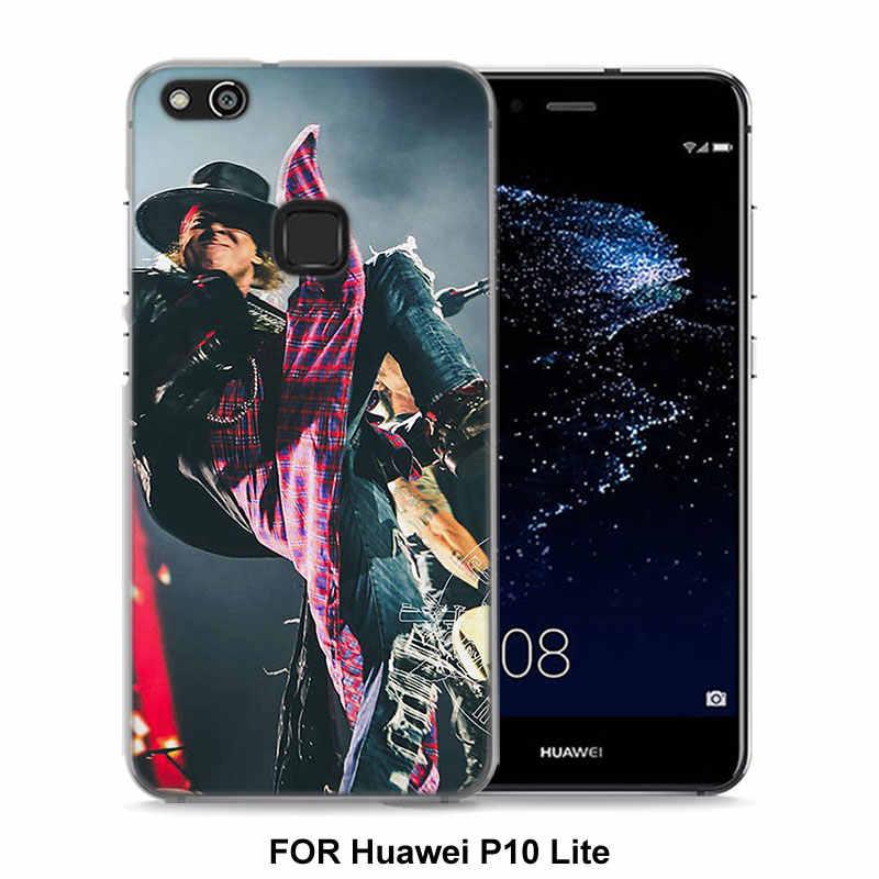 for Huawei P10 Lite deviantart guns n roses Style clear frame back Cover  Case for Huawei P20 Lite P Smart P10 lite P8 P9 lite