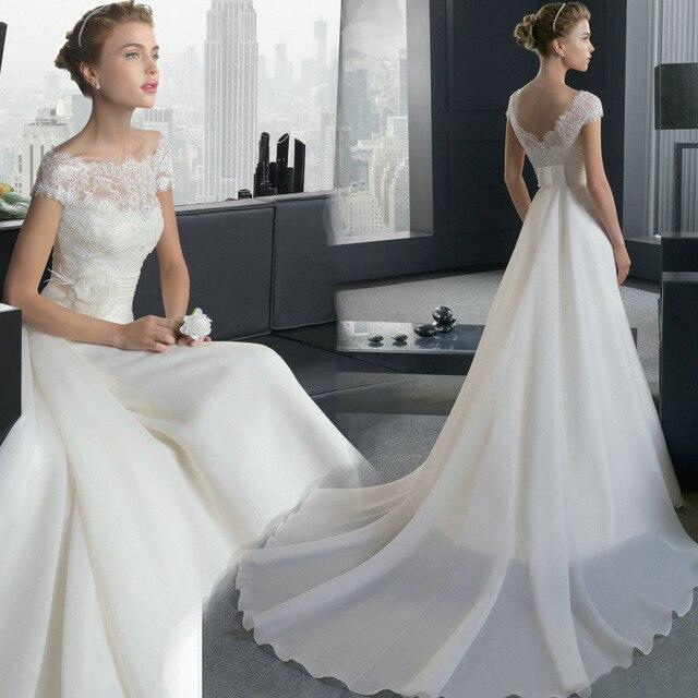 Boothals Trouwjurk.Gratis Verzending De Bruid Trouwjurk Boothals 2017 Nieuwe Koreaanse