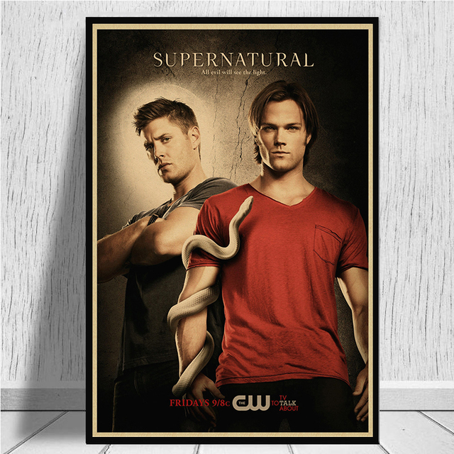 Supernatural Retro Wallpaper Style Poster