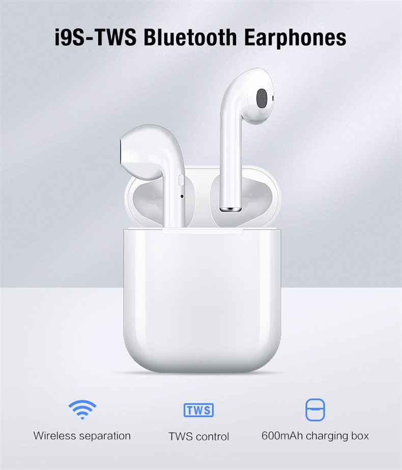 original Best <font><b>i9s</b></font> tws POP UP tws <font><b>bluetooth</b></font> <font><b>5.0</b></font> <font><b>earphone</b></font> headphones earbuds Headset With Charging Box for iphone xiaomi Android image