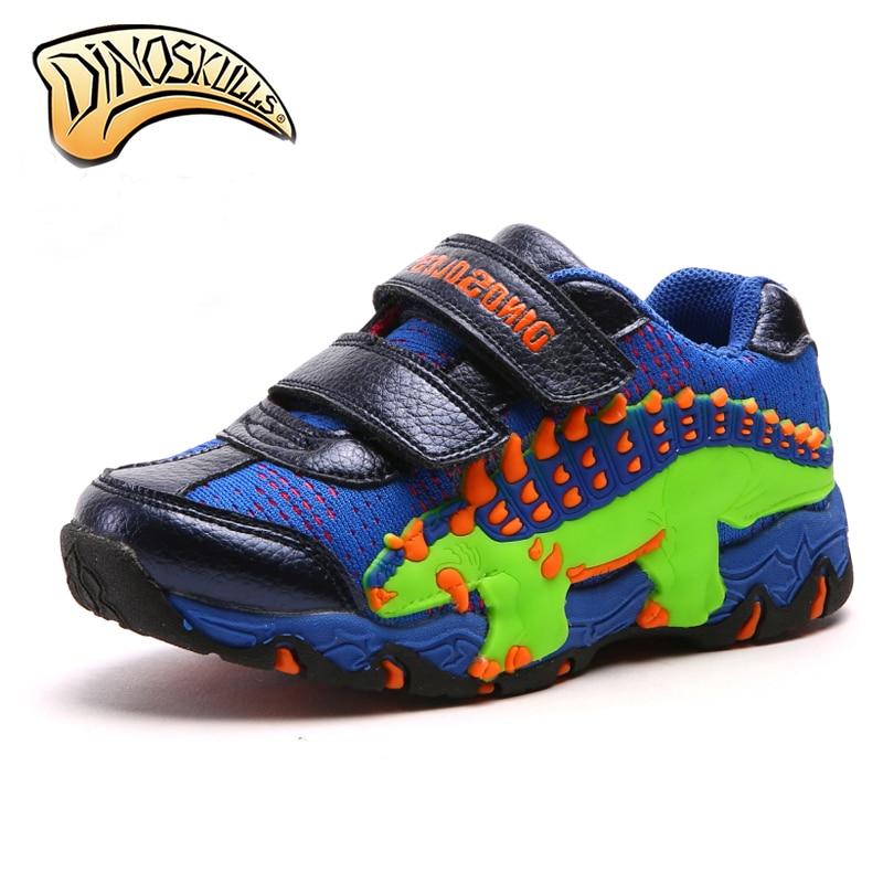 Dinoskulls Copii Pantofi adiabili Pantofi copii Băieți Pantofi Copii mesh 2018 Pantofi sport Pantofi dinozaur 3D 27-34