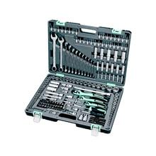 Набор инструментов STELS 14115 (216 предметов, хром-ванадиевая сталь и сталь S2, трещоточные ключи, торцевые головки, биты, шестигранные ключи и др.)