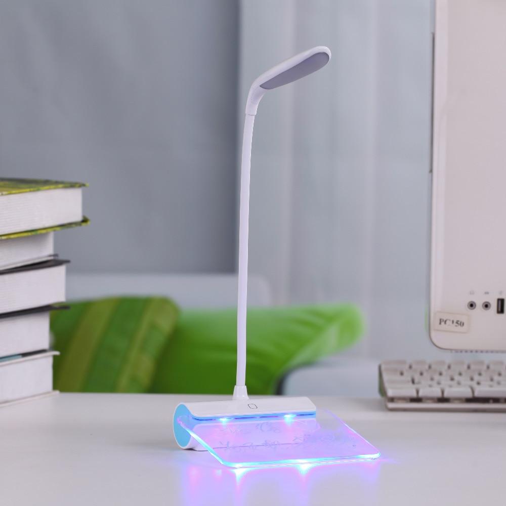 Mesaj lövhəsi ilə USB ilə doldurulan masa lampası, portativ üç - Daxili işıqlandırma - Fotoqrafiya 2