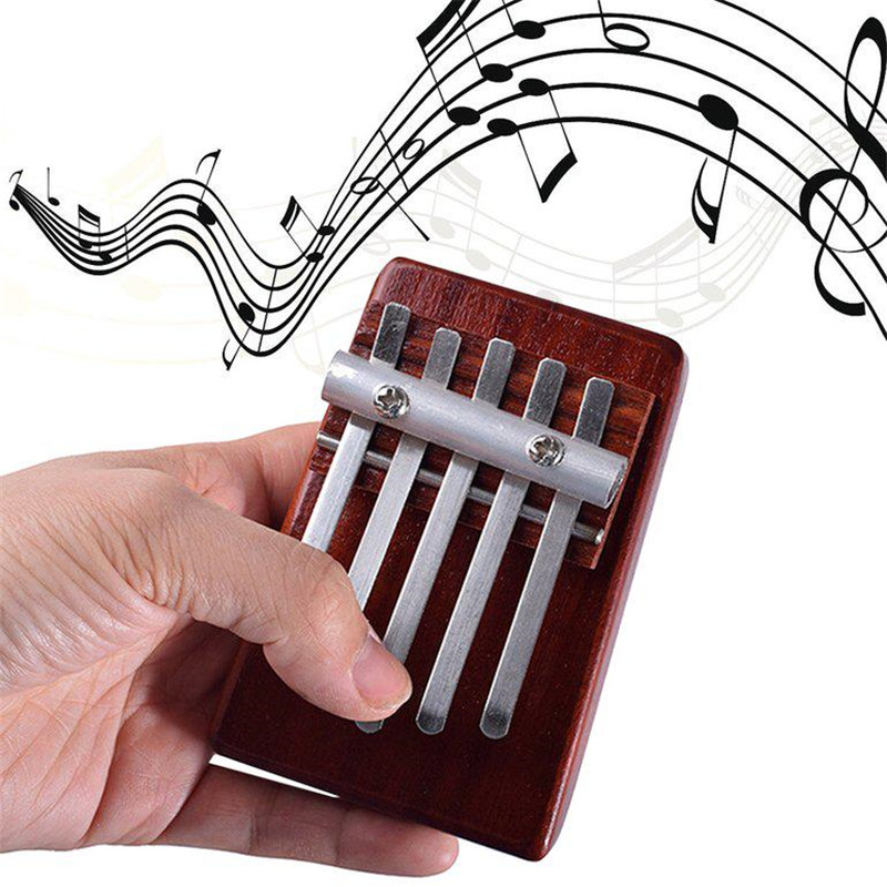 Thumb Piano Carlin Ba Qin 5 Keys African Finger Thumb Rosewood Piano Kalimba Mother Refers To Hand Piano Instrument