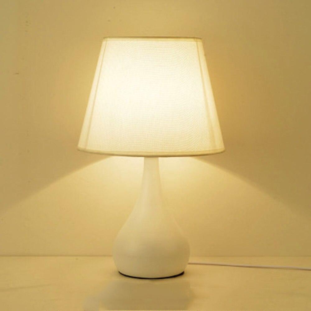 Rural Led Table Lampes E27 Lampes de Table En Céramique Forme pour Chambre Éclairage 110-220 v Campagne Simple Blanc Lecture lit Lumière