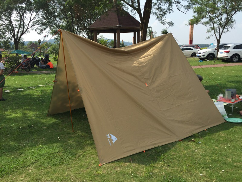 Image 5 - 3F UL GEAR Tarp Korea National Forest 4x4.4m Anti UV 210T with Silver Coating Outdoor Large Shelter Beach Awning tourist canopy-in Sun Shelter from Sports & Entertainment