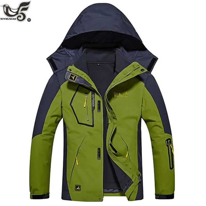 XIYOUNIAO plus rozmiar L ~ 6XL 8XL kurtka zimowa mężczyźni znosić 2 w 1 wyjmowana wkładka gruba wodoodporna bawełna płaszcz z kapturem mężczyźni płaszcz w Parki od Odzież męska na  Grupa 3