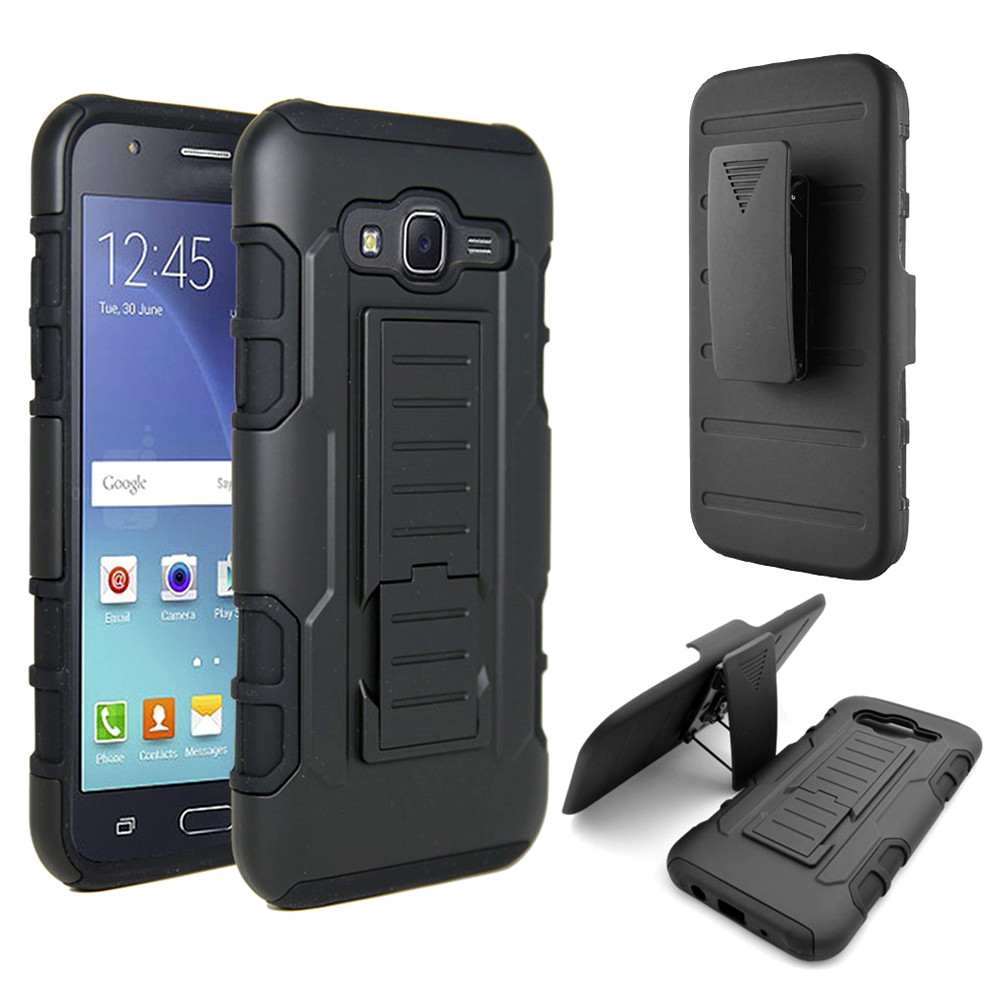 Rugged Silicone Shockproof Case Hybrid Armor Phone Cover Belt Clip Holster Case for Samsung Galaxy J1 J2 J3 J7 2016 J5 J7 2015