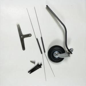 Image 4 - 50cc 100cc RC 비행기 모델에 대 한 PU 바퀴와 탄소 섬유 꼬리 착륙 기어 세트