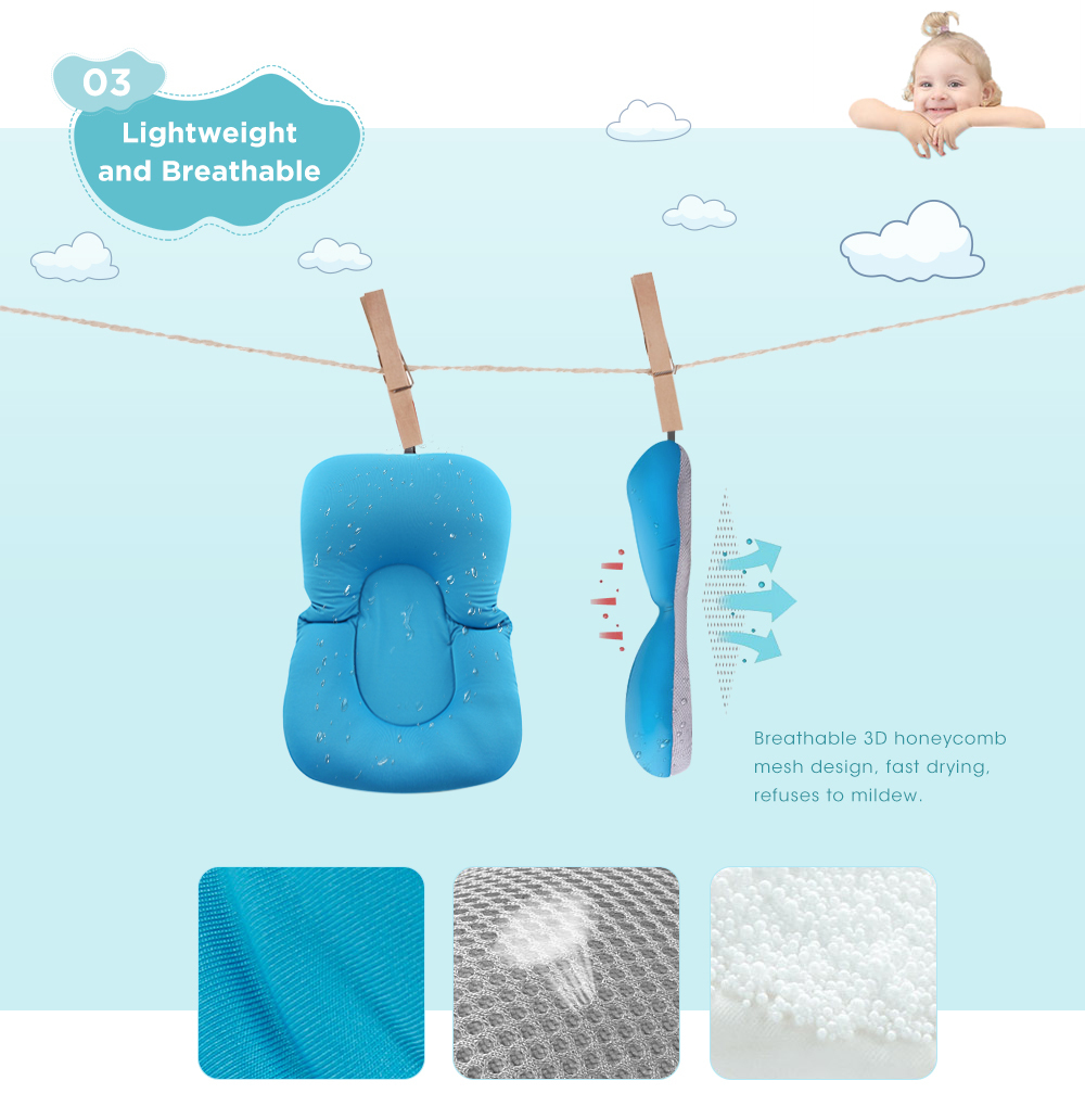 Противоскользящий детский коврик для ванной, Складное Сиденье для душа, Детская ванна, шезлонг, нескользящая защитная подушка для ванной, мягкая губчатая подушка для новорожденной кровати