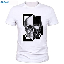 New Summer Famous Brand PP Skull T Shirt Men Plus Size  Free shipping newest Fashion Classic Funny Unique gift