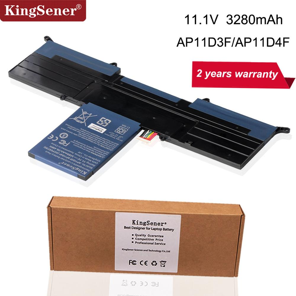 KingSener New AP11D3F Battery For Acer Aspire S3 S3-951 S3-391 MS2346 AP11D3F AP11D4F 3ICP5/65/88 3ICP5/67/90 11.1V 3280mAh