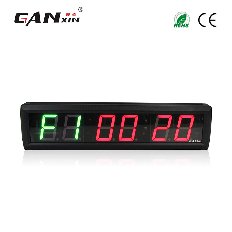 Ganxin 2 3 Electronic gym digital timer wall clock LED Tabata crossfit clock morden gym