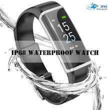 2019 New Smart health Bracelet Men Women Fitness tracking Message Heart Rate Time IP68 Waterproof Clock Smart Sport mode Watch(China)