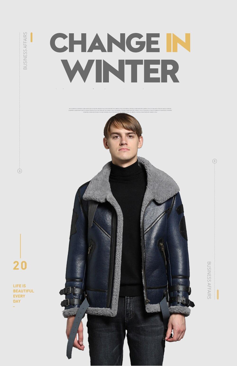 HTB1Y5RiXBv0gK0jSZKbq6zK2FXav 2019 Fashion 100% Quality Real Sheepskin Fur Men Coat Genuine Full Pelt Sheep Shearling Male Winter Jacket Brown Men Fur Outwear