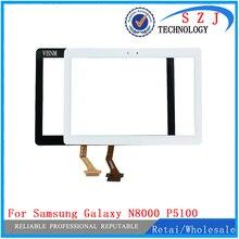 Новинка 10,1 дюйма Замена для samsung Galaxy Note N8000 N8010 P5100 сенсорный экран дигитайзер в сборе для samsung переднее стекло