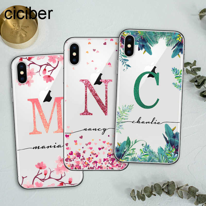 Ciciber Custom Design Diy Naam Case Voor Iphone 11 Case Iphone 11 Pro Xs Max 7 Xr X 8 6S Plus Cover Voor Samsung S10 S9 Plus S10e