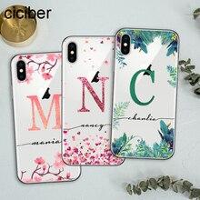 ciciber Custom Design DIY Name for iPhone Case 11 PRO Max 7 XR X XS MAX 8 6s Plus Funda Samsung S10 S9 S10e Phone