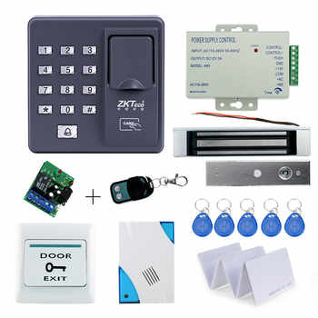 Full kit biometric fingerprint access control X6+180KG magnetic lock+power supply+exit button+door bell+remote control+key cards - DISCOUNT ITEM  15% OFF All Category