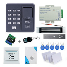 Full kit biometric fingerprint access control X6+180KG magnetic lock+power supply+exit button+door bell+remote control+key cards