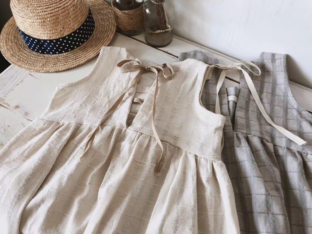 20d8f95d02053 Korean Toddler Girl Dress Kids Baby Girl Linen Summer Clothings ...