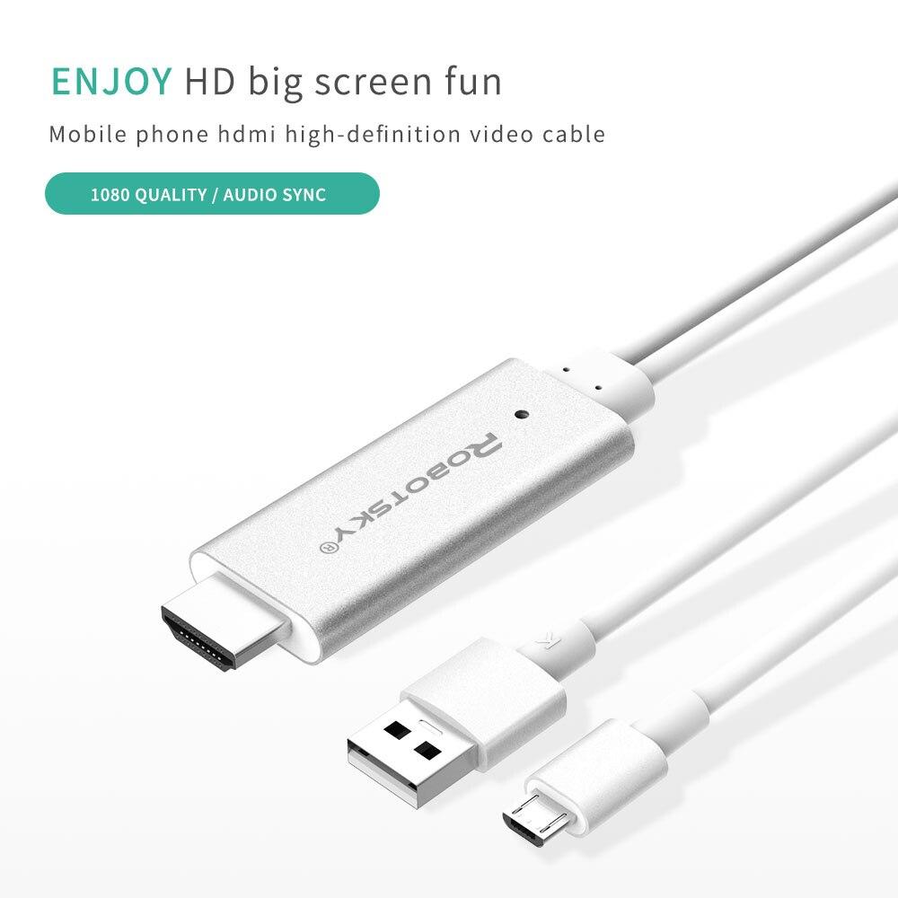 HD Hdmi kabel Typ C/Micro Usb kabel für iPhone zu hdmi 1080 P Für ...