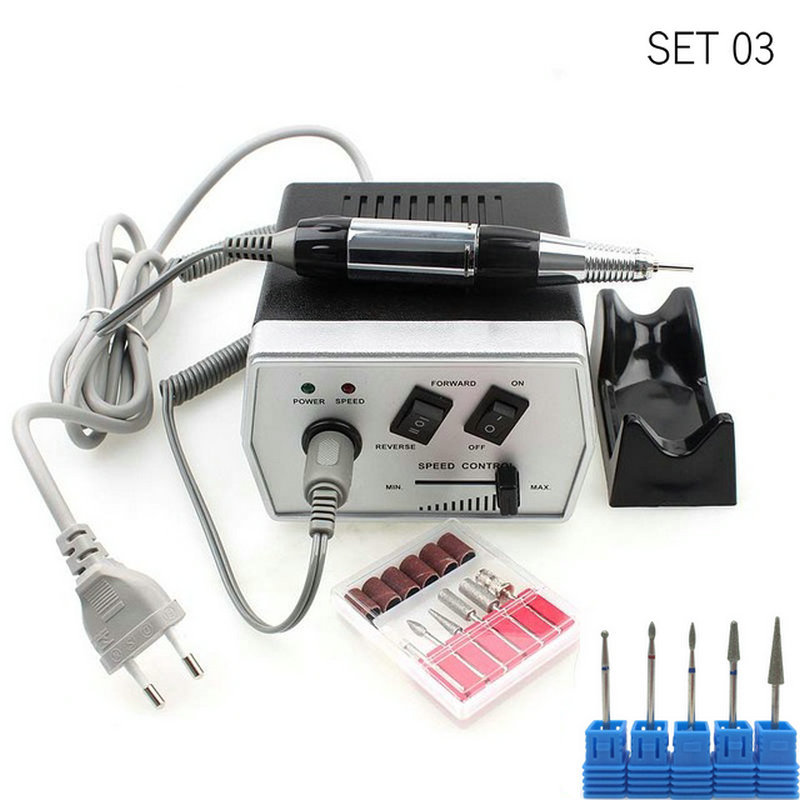 30000Rpm Nail Drill Machine Electric 35W Black Nail Equipment Manicure Pedicure Files Electric Manicure Drill & Accessory цена
