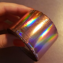 1 Roll Holographic Nail Foil Roll 4cm*120M Holo Rose Gold Color Transfer Foil Sticker Manicure Nail Art Decals NXZ02-11# royal blue starry sky holographic nail art transfer foil nails sticker decals nail tip decoration 5cm 120m roll