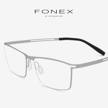 8654e416e2 Titanio gafas hombres Semi montura anteojos recetados 2019 nuevo  ultraligero miopía marcos ópticos sin tornillos gafas