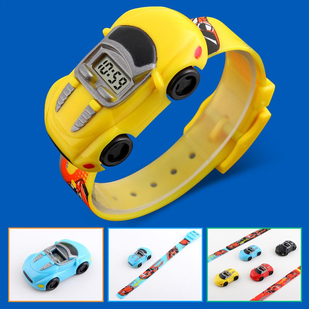 2019 Children Kids Boy Watches Car Toy Digital LED Quartz Sports Electronic Quartz Sport Watch Shock WristWatch