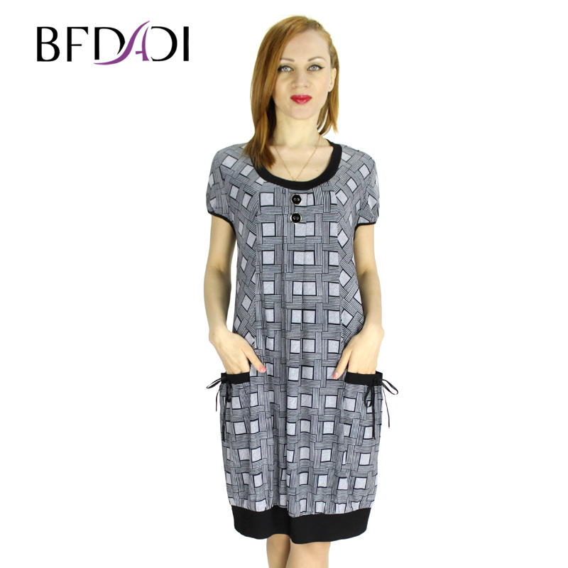 Bfdadi Hot Sale Loose Women Dress 2016 New Fashion Casual Women 39 S Summer Dress Work Dresses Plus