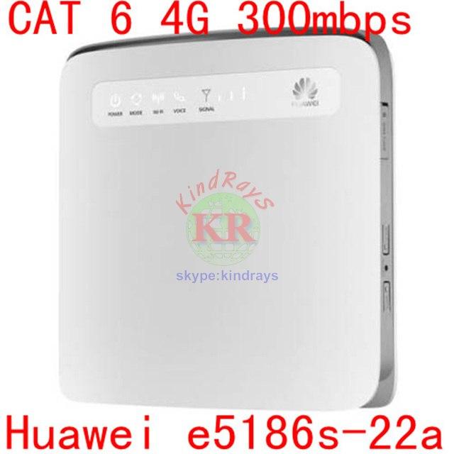 Débloqué cat6 300 mbps huawei e5186 e5186s-22a 4g 3g routeur 4g wifi dongle Mobile hotspot 4g voiture cpe routeur pk b593 e5176 e5172