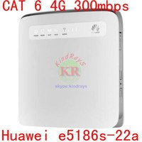 Sbloccato cat6 300mbps Huawei e5186 E5186s-22a 4g 3g router 4g dongle wifi Mobile hotspot 4g cpe huawei e5186 4g lte router