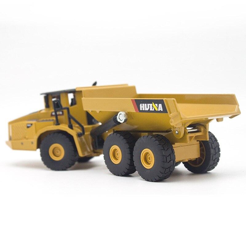 3PCS/set HUINA 1:50 dump truck excavator Wheel Loader Diecast Metal Model Construction Vehicle Toys for Boys Gift Car Collection