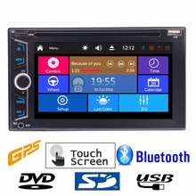 Double 2 DIN Car headunit Electronics DVD CD 1080P Video music Player Bluetooth GPS Navi Digital-TouchScreen Car Stereo Radio