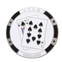 Poker Sign Coin Custom Round Painted cheap custom made metal coins