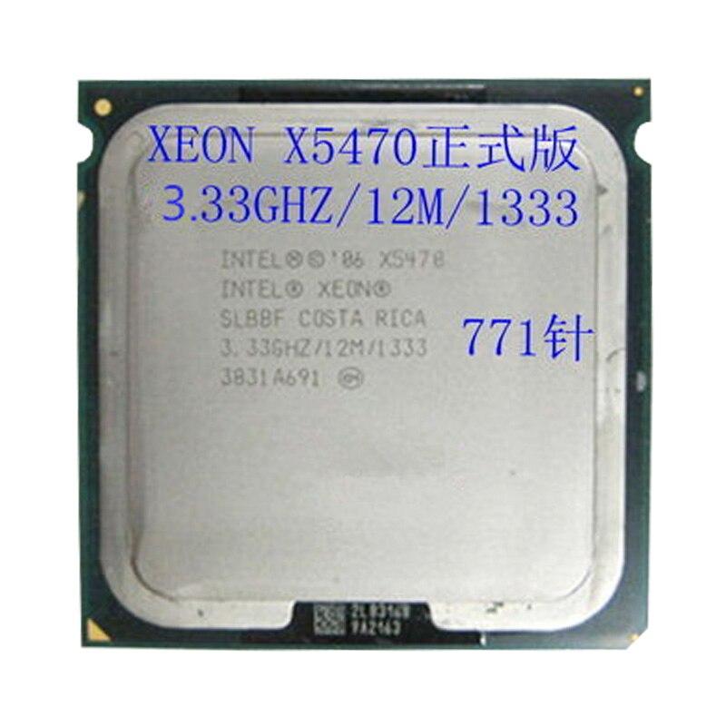 INTEL XEON 771X5470 CPU 3.33 GHz/12 MB/1333 Mhz Quad Core serveur processeur fonctionne sur LGA 775 carte mère ont une 5440 5450 5460 vente