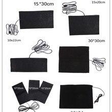 USB теплая паста колодки Быстрый нагрев углеродного волокна грелку безопасный портативный нагревательный коврик-грелка для ткани жилет куртка обувь носки