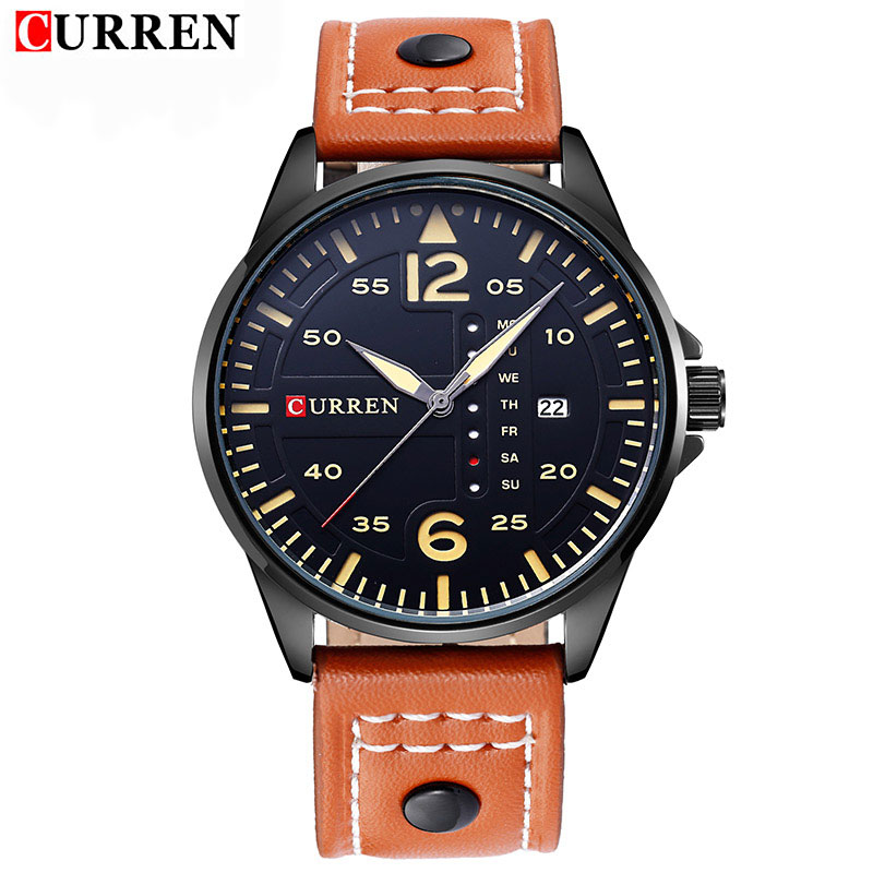 Curren Watches Men Luxury Wristwatch Male Clock Casual Fashion Business sports Wrist Watch Quartz Date Leather