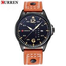 Curren montres hommes luxe montre homme horloge mode Casual sports Business bracelet à Quartz Date en cuir relogio masculino