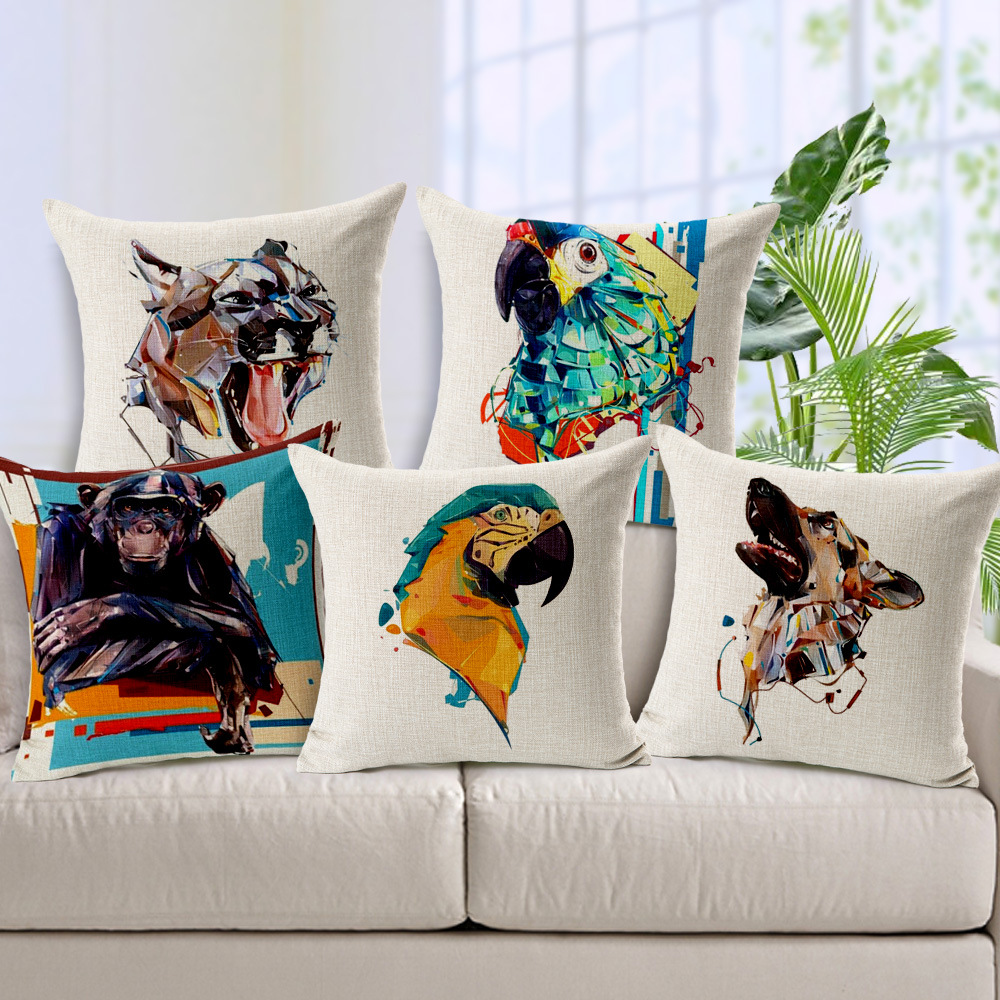 Buy new design pillow watercolor animal - Cojines de exterior ...
