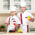 Soft and comfortable short sleeve cotton colorfast and shrink resistant white jacket uniform for chef cook baker